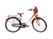 Meisjesfiets 20 inch - Bike Fun girls fun wit-oranje