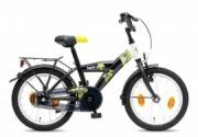 Kinderfiets 16 inch - Bike Fun Jump 4 Fun zwart-wit