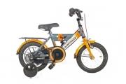 Kinderfiets 12inch - Bike Fun Airforce titaan-oranje