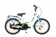 Kinderfiets 16inch - Bike Fun Flower Fun mint-blauw